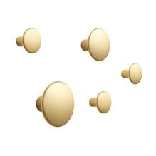 Muuto Dots Kleiderhakenset Metall (5-teilig) Messing