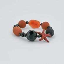 Armband Seestern orange