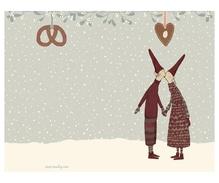 Maileg Pixy Kiss, kleine Weihnachtsklappkarte mit Umschlag