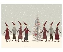 Maileg Pixies around the Tree, Weihnachtsklappkarte mit Umschlag