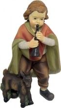 Junge mit Ziege zu 'Mathiaskrippe' 11 cm, aus Polyresin