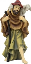 Hirte mit Stab zu 'Mathiaskrippe' 11 cm, aus Polyresin