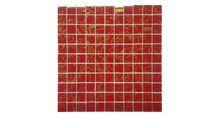 Glasmosaik SH Rot Gold