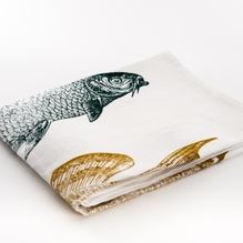 Geschirrtuch 'Fische Trio' - Frohstoff