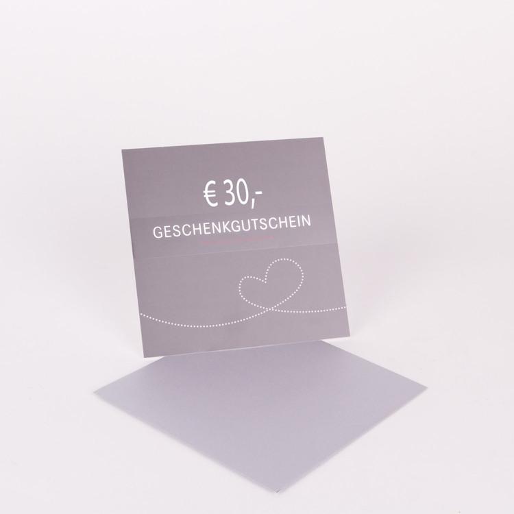 30€ Geschenkgutschein