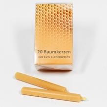Baumkerzen '10% Bienenwachs' Packung mit 20 Kerzen