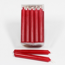Baumkerzen 'karminrot' Packung mit 20 Kerzen