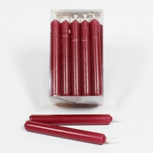 Baumkerzen 'altrot' Packung mit 20 Kerzen