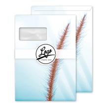 Briefumschlag 100 Stück mit Fenster, haftklebend 4c Farbe