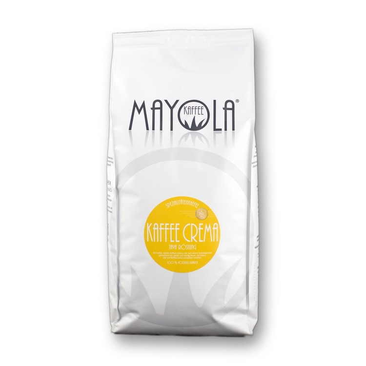 Mayola Kaffee Crema Java Röstung Bohnenkaffee 1000g