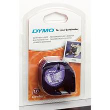 DYMO Schriftbandkassette LetraTag S0721550 12mmx4m sw auf tr