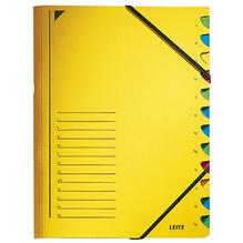 Leitz Ordnungsmappe 39120015 DIN A4 12Fächer farbig Karton gelb
