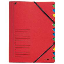 Leitz Ordnungsmappe 39120025 DIN A4 12Fächer farbig Karton rot