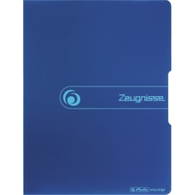 Herlitz Sichtbuch Zeugnisse 11208360 DIN A4 PP 20 Hüllen blau