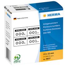 HERMA Nummern Etikett 4837 15x22mm schwarz 1.000 St./Pack.