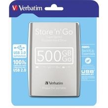 Verbatim Festplatte Store n Go 53021 500GB USB3.silber