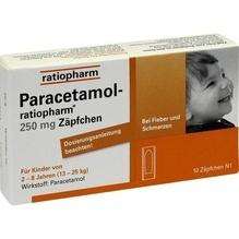 Paracetamol ratiopharm 250 mg Kleinkdr.-Suppos. 10 St