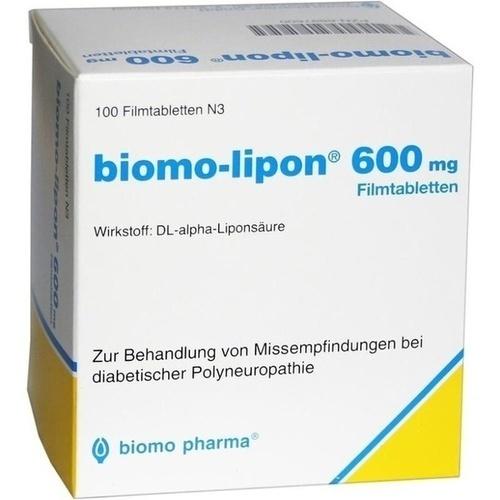 Biomo Lipon 600 Filmtabletten 100 St