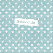Serviette/33x33 Sterneküche/eisblau