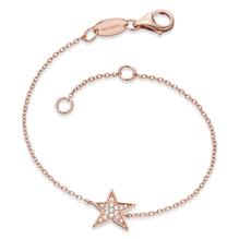 Engelsrufer Armband Stern, 925er-Sterlingsilber rhodiniert 18K rose gold. ERB-LILSTAR-ZI-R