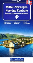 Kümmerly & Frey Karte Mittel-Norwegen. Norvege Centrale / Central Norway / Midt-Norge