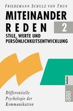Miteinander reden. Tl.2 | Schulz von Thun, Friedemann