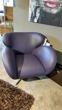 Einzelsessel Supersonic Machalke, Leder Omega violett