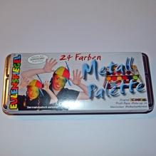 24 Farben Metall Palette Theaterschminke Karneval