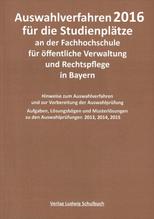 Auswahlverfahren 2018 für die Studienplätze an der Hochschule für den öffentlichen Dienst in Bayern