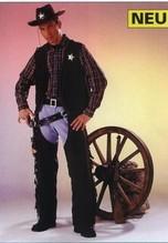 Cowboy Hose Gr. 36-38 Western Karneval Fasching Chaps braun