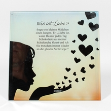 Glasbild 'Was ist Liebe'