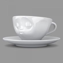 Espressotasse 'küssend' weiß 100 ml, 58-Products 011501