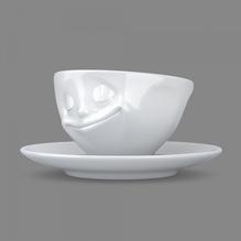 Espressotasse 'glücklich' weiß 100 ml, 58-Products 011601