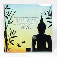 Glasbild 'Buddha'