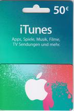 iTunes Guthaben Karte 50€