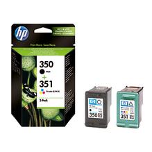 HP Tintenpatrone SD412EE 350/351 sw/c/m/y 2 St./Pack.