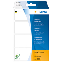 HERMA Adressetikett 4300 88x35mm weiß 250 St./Pack.