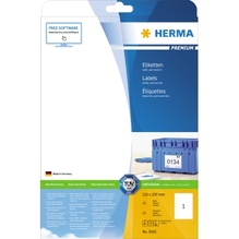 HERMA Etikett PREMIUM 5065 210x297mm weiß 25 St./Pack.