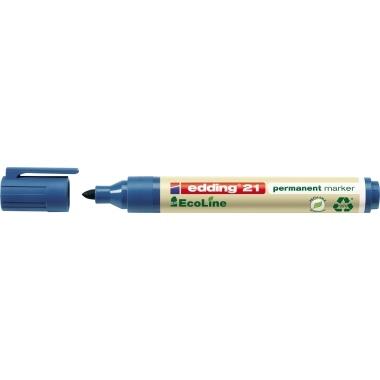 edding Permanentmarker 21 EcoLine 4-21003 1,5-3mm Rundspitze blau
