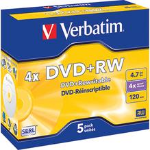 Verbatim DVD+RW 43229 4x 4,7GB 120Min. Jewelcase 5 St./Pack.