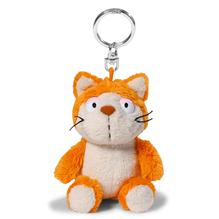 Nici Plüsch Schlüsselanhänger 'Comic Cats Katze Hungry' 10cm Bean Bag