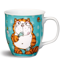 Nici Porzellan-Tasse 'Comic Cats Katze Hungry'