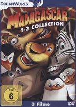 Madagascar 1-3, 3 DVD