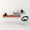 Wink folienbeschichtet 180 cm weiss/rot/grau