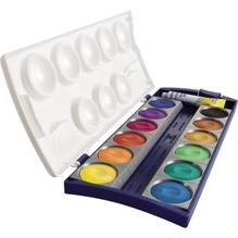 Pelikan Deckfarbkasten 720250 12 Farben und Deckweiß 735 5/12