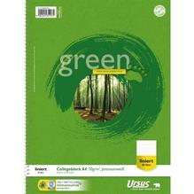 Ursus Collegeblock Green 608570010 DIN A4 70g liniert weiß 80Blatt