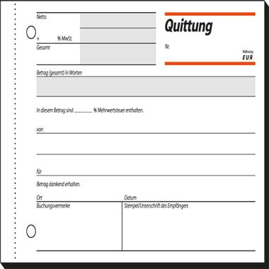 SIGEL Quittungsbuch QU619 A6q 50Bl | Mein HEILBRONN Shop