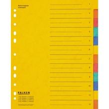 Falken Register 11359320 DIN A4 12teilig Colorspankarton farbig