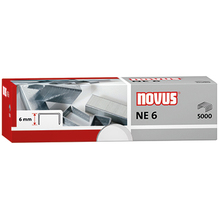 NOVUS Heftklammer NE 6 Super 042-0001 verzinkt 5.000 St./Pack.