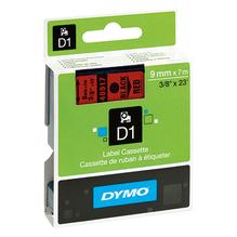 DYMO Schriftbandkassette D1 S0720720 9mmx7m schwarz auf rot